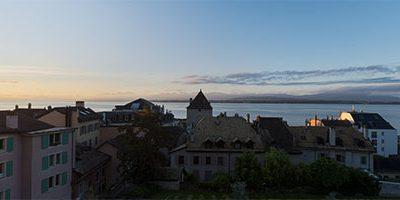 Castle at sunrise – Nyon